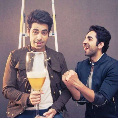 Ayushmann with his brother Aparshakti