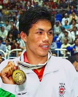 Dingko Singh with 1998 Asian Games Gold Medal