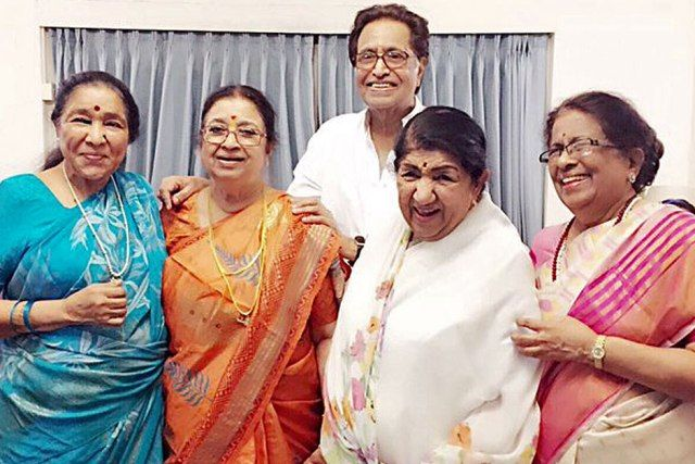 Asha Bhosle with her siblings