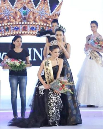Aarushi Sharma as the Miss Intercontinental India 2016