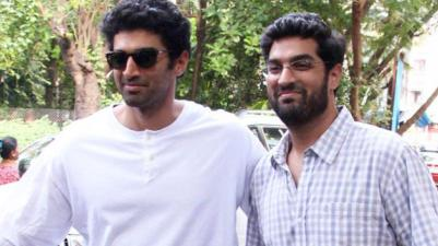 Aditya Roy Kapur with Kunal Roy Kapur