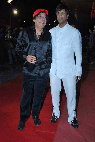Javed Jaffrey with his father