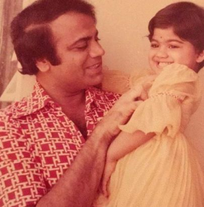 Shilpa Shetty With Her Father