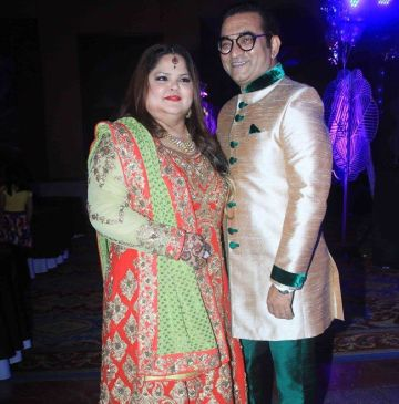 Abhijeet With His Wife Sumati Bhattacharya