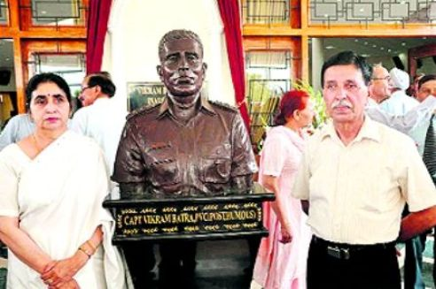 Captain Vikram Batra's Parents At The Unveiling of His Bust At IMA