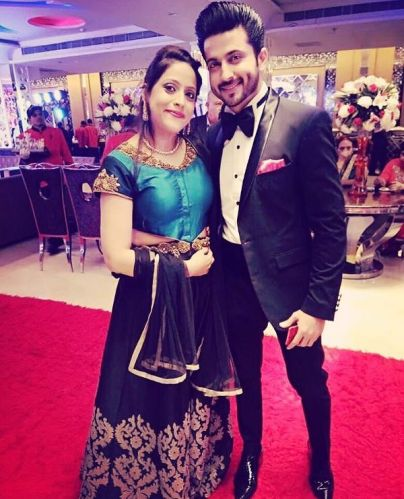 Dheeraj Dhooper with his sister