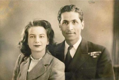 K. M. Nanavati With His Wife Sylvia Nanavati