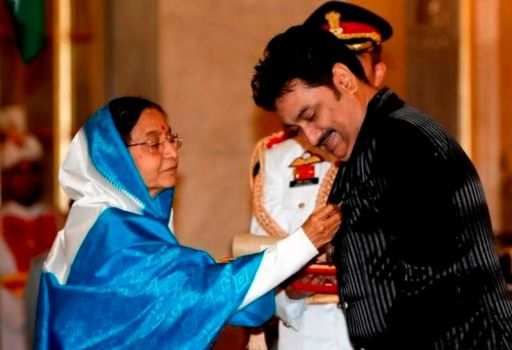 Kumar Sanu Receiving Padma Shri