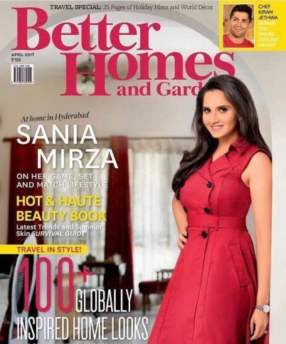 Sania Mirza on the cover of Better Homes and Gardens