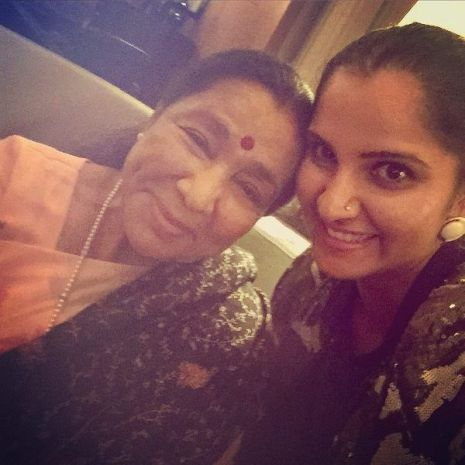 Sania Mirza with Asha Bhosle