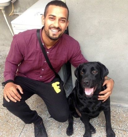 Garry Sandhu with his pet