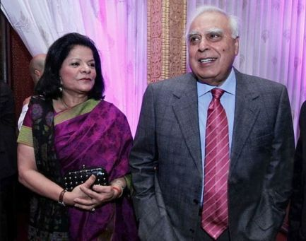 Kapil Sibal With His Second Wife Promila Sibal