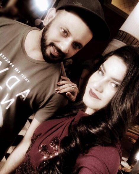 Kaur B with her brother Amar Dhillon