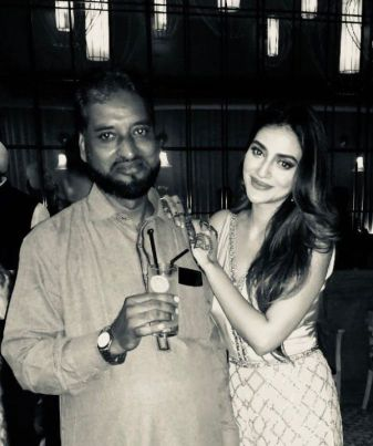 Nusrat Jahan With Her Father