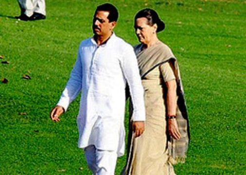 Sonia Gandhi With Robert Vadra