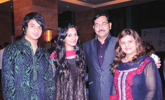 Sudesh Bhosle with his family