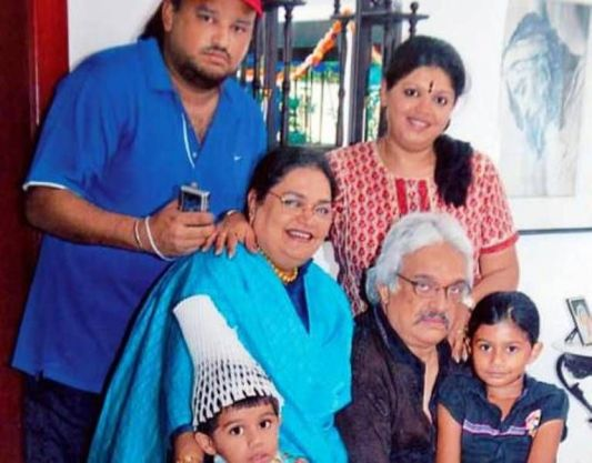 Usha Uthup With Her Family