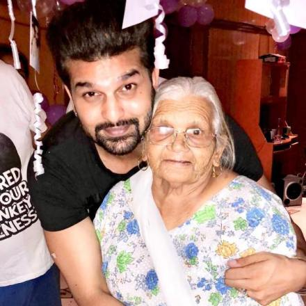 Yuvraj Hans with his grandmother
