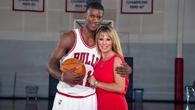 Jimmy Butler and Michelle Lambert