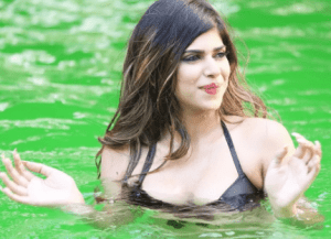 Lyla Gupta chills in a pool on a hot summer day