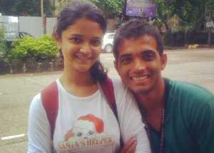 Radhika Dhopavkar with Ajinkya Rahane