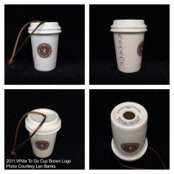 Starbucks Ornament White Cup