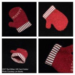 6001 2007 Red Mitten Gift Card Holder
