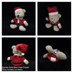 6006 Bearista Santa Bear Finger Puppet