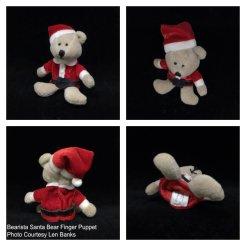 6006 Bearista Santa Bear Finger Puppet