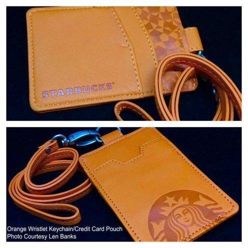 6008 Orange Wristlet Keychain-Credit Card Pouch