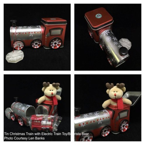 6011 Tin Christmas Train with Electric Train Toy-Bearista Bear