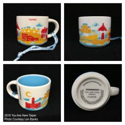 2016 You Are Here Taipei Starbucks Ornament