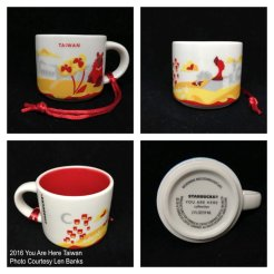 2016 You Are Here Taiwan Starbucks Ornament