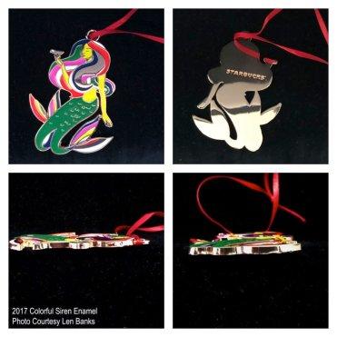 2017 Colorful Siren Enamel Starbucks Ornament