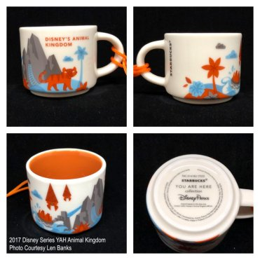 2017 Disney Series YAH Animal Kingdom Starbucks Ornament