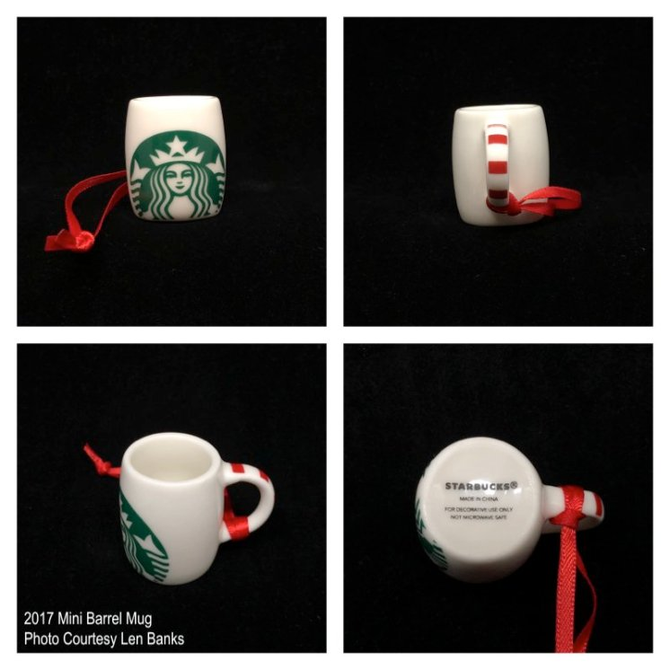 2017 Mini Barrel Mug Starbucks Ornament