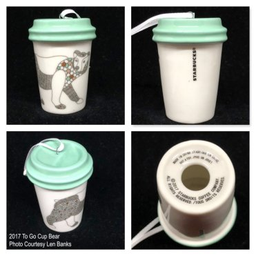 2017 To Go Cup Bear Starbucks Ornament