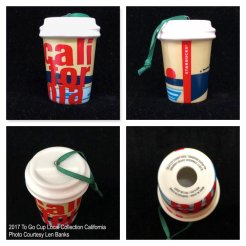 2017 To Go Cup Local Collection California Starbucks Ornament
