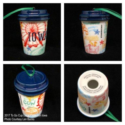 2017 To Go Cup Local Collection Iowa Starbucks Ornament