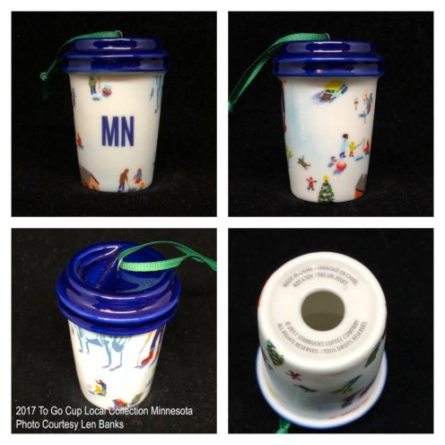 2017 To Go Cup Local Collection Minnesota Starbucks Ornament