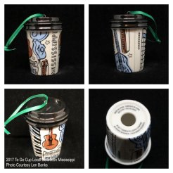 2017 To Go Cup Local Collection Mississippi Starbucks Ornament