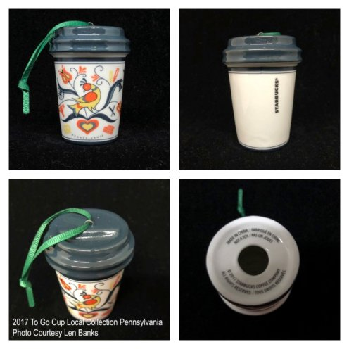 2017 To Go Cup Local Collection Pennsylvania Starbucks Ornament