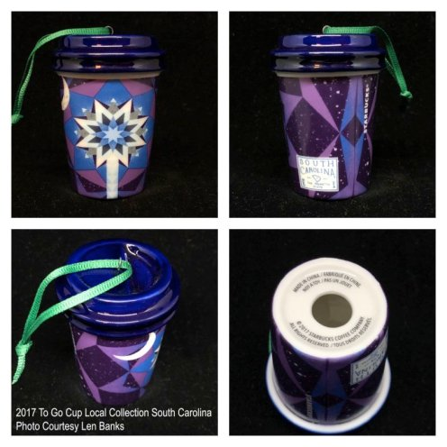 2017 To Go Cup Local Collection South Carolina Starbucks Ornament