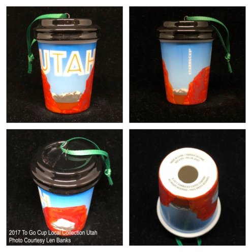 2017 To Go Cup Local Collection Utah Starbucks Ornament