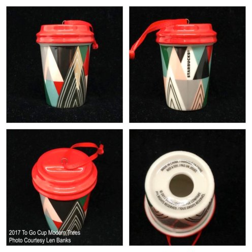 2017 To Go Cup Modern Trees Starbucks Ornament