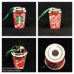 2017 To Go Cup Poinsettia Asia Starbucks Ornament