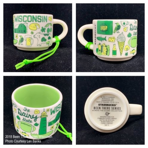 2018 Been There Series Wisconsin Starbucks Ornament