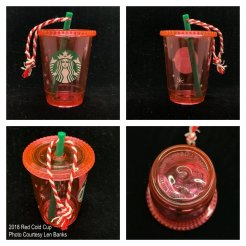 2018 Red Cold Cup Starbucks Ornament
