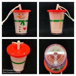 2018 Snowman Cold Cup Starbucks Ornament