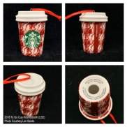 2018 To Go Cup Houndstooth Starbucks Ornament
